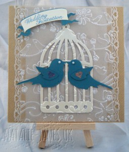 Cuttlebug birds invite