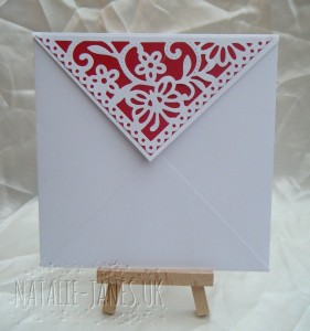 Envelope Flap Cut using Cuttlebug