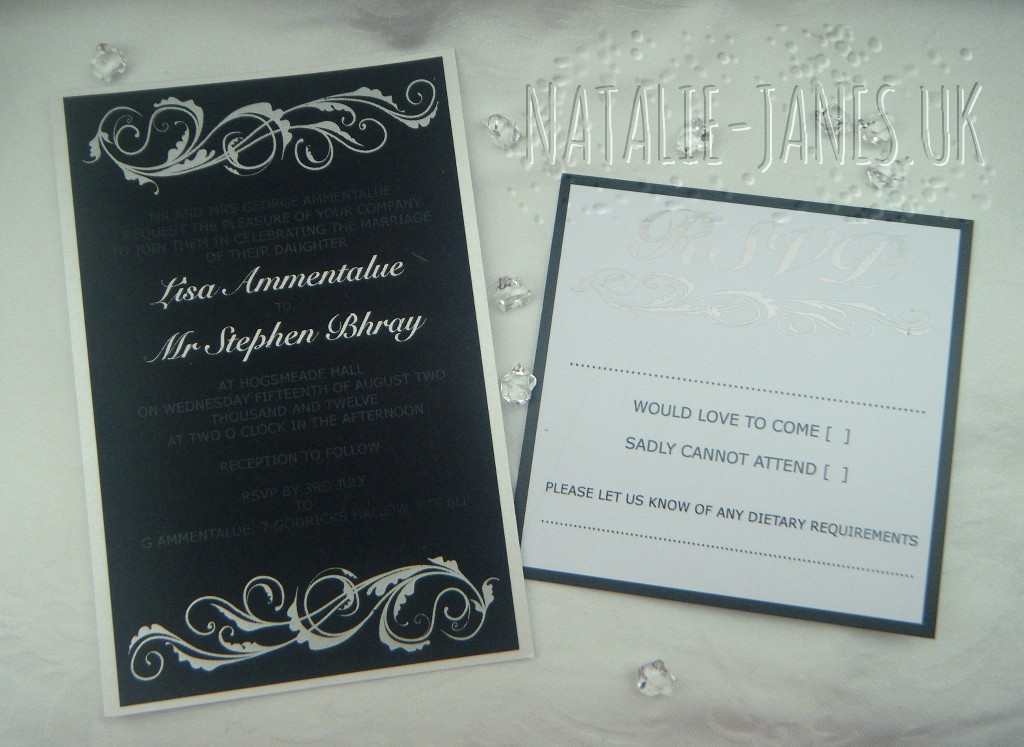 Foiled Wedding Invites