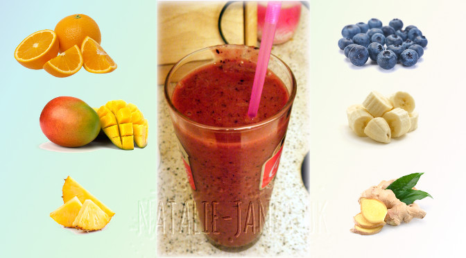 smoothie with fruit